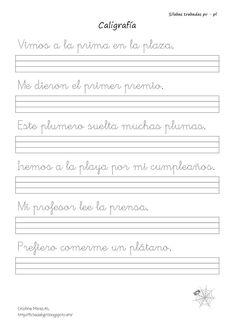 Conlección de fichas de caligrafía trabadas mixtas y directas -Orientacion Andujar Calligraphy Letters, Music Quotes, Homeschool, Classroom, Lettering, Fast Finishers, Scp, 3d Printing, Stickers