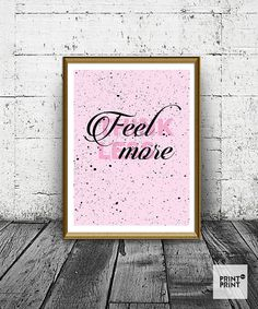 Fell More Think Less Print, Quote Poster, Purple and Black Home Decor, Quote Art, Wall Art Print, Modern Prints, Art Print _______________________________________________________________________________________  WHAT YOU WILL RECEIVE? ► Instructions ► High quality 4:5 ratio JPEG for printing 4x5inc / 8x10inc / 16x20inc / 40x50cm ► High quality 3:4 ratio JPEG for printing 6x8inc / 9x12inc / 12x16inc / 18x24inc / 30x40cm ► High quality 2:3 ratio JPEG for printing 8x12inc / 20x30inc / 10x15cm…