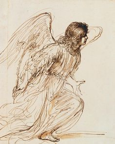 The Angel of the Annunciation, Giovanni Francesco Barbieri known as Guercino