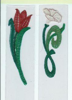 2 x flower bookmark for Arachne exchange 22-4-2012 001