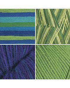 Green and blue sock yarn sampler $27.99