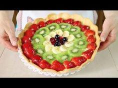 Crostata di Frutta Ricetta per Base, Crema e Gelatina - Homemade Fruit Pie Recipe - YouTube