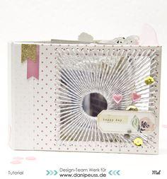 DIY Minialbum mit Fadencover Tutorial von Melanie Hoch für www.danipeuss.de #minialbum #scrapbooking #danipeuss