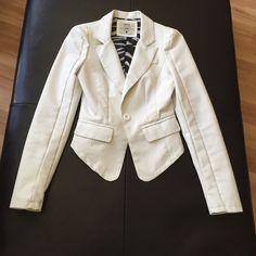 Asymmetric Faux Leather Blazer Worn handful of times. No rips, very good condition. Jackets & Coats Blazers