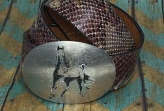 Hopi Horse Buckle by D. Coats Taos NM by TheThunderBirdRanch on Etsy