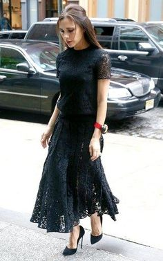 Victoria Beckham always on point. Black Lace inspiration