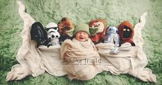 Geeky Baby Photo Shoots Are Too Cute For Words: Think your love of Star Wars and other geekdoms can't be combined with your new life as a parent?