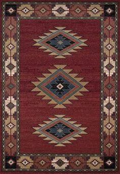 Wonderful Dalyn AN30 Red South Western Area Rug Approx 5u0027 X 7u0027 | EBay