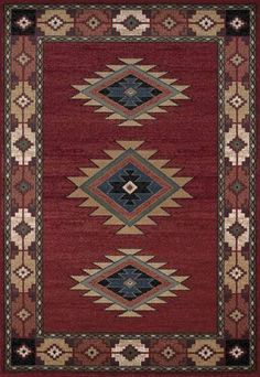 Dalyn AN30 Red South Western Area Rug Approx 5u0027 x 7u0027 | eBay. Southwestern  ...