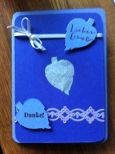 Duftkarte, gefüllt mit Lavendelblüten