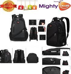 Faket Latest Unisex Swissgear Backpack School Laptop Bag Travel Sport Bag Nylon
