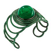 EMERALD STEP CUFF by Solange Azagury-Partridge