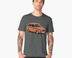 Volvo 66 combi or estate printed on T-shirts. Check out many color options. Retro Cars, Vintage Cars, Car Illustration, Volvo, Classic Cars, Automobile, Printed, Check, Mens Tops