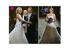 Izzie (Katherine Heigl) vestiu um vestido de Kenneth Pool quando casou com Alex (Justin Chambers), em Anatomia de Grey. #casamento #série #AnatomiadeGrey #KatherineHeigl