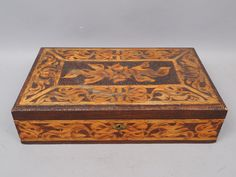 Antique Pyrography Box Circa 1900 Art by NineCarolineAntiques