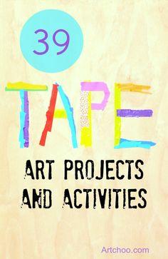 39 Tape art projects and activities • Artchoo.com