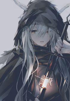 Dark Anime Girl, Kawaii Anime Girl, Anime Art Girl, Anime Girls, Chica Anime Manga, Manga Girl, Fantasy Character Design, Character Art, Anime Krieger