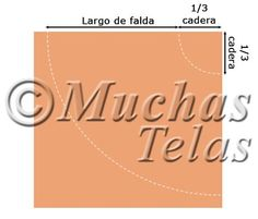 Patrones y explicaciones para confeccionar una falda de capa completa, patrón 2