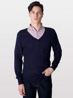 American Apparel Knit Sweater V-Neck
