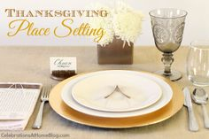 THANKSGIVING PLACE SETTING :: 5 SIMPLE ELEMENTS