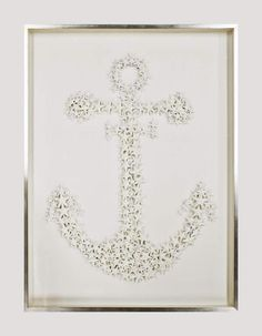 From the Karen Robertson Collection, Layers of artistically arranged starfish create a truly unique rendition of an Admiralty anchor. www.sidneycardels.com https://www.facebook.com/SidneyCardels