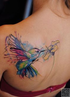 3. #Kolibri - 45 unglaubliche #Aquarell Tattoos... → #Beauty