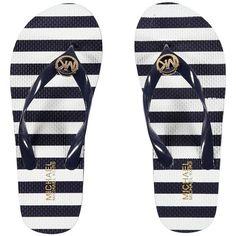 11d421d4b233 Michael Michael Kors MK Flip Flops (175 SEK) ❤ liked on Polyvore featuring  shoes