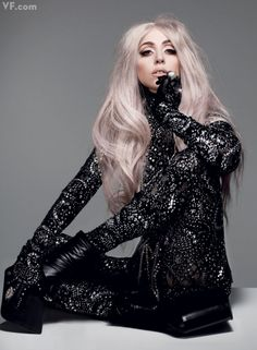 Lady Gaga photographed by Nick Knight for Vanity Fair, September Divas, Lady Gaga Fashion, Mode Sombre, Nathalie Portman, Lady Gaga Pictures, Our Lady, Elie Saab, Vanity Fair, Demi Lovato