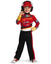 Child Cars 2 Lightning Mcqueen Pit Crew Classic | Cheap TV & Movie Halloween Costume for Boys