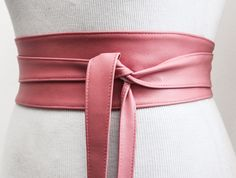 A personal favourite from my Etsy shop https://www.etsy.com/uk/listing/277430566/sale-pink-leather-tulip-tie-obi-belt
