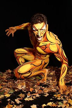 Pics of attractive guys with dyed hair or in body paint. Might throw in the occasional mud pic too. May contain nudity or gay content. Body Painting Men, Ink Painting, Attractive Guys, Unusual Art, Tumblr, Male Body, Face And Body, Human Body, Fashion Art