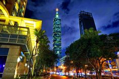 Taipei 101 by melovesushi from http://500px.com/photo/204793171 - The colossus of Taipei city  highly recommended visit  but make sure you are allowed to go up to the open air deck  usually pending on weather conditions .. More on dokonow.com.