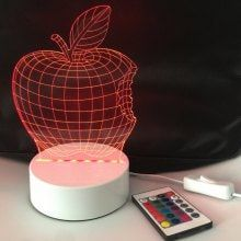 DSU Apple 3D Light Optical Illusion Color Change 3D Visual LED Light 3d Light, Led Ceiling Lights, Optical Illusions, Color Change, Apple, Ideas, Apple Fruit, Illusions, Apples