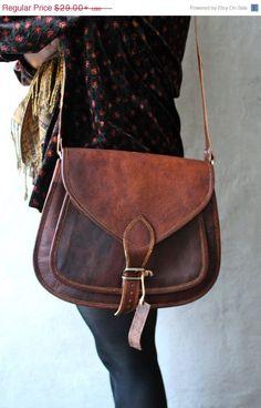Large Leather Purse Bag