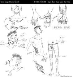 GEORGE ref sheet by Fukari.deviantart.com on @deviantART