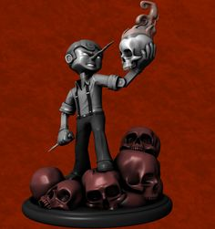 the impossible to find, Pinocchio vampire slayer statue
