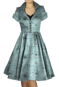 1950s Automic Day Dress by Amber Middaugh