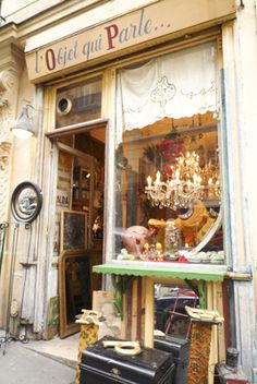 { L'Objet qui parle }  Certains objects speak of the past, of poetry, of vanished worlds, of childhood and mysteries. This tiny vintage store in the Abbesses district is a real curiosity cabinet or a long-abandoned attic.  The boutique is instantly engaging when stepping over the threshold, every object attracts you gaze and you will always find something to take home.    86, rue des Martyrs | 75018 Paris | Phone: 06 09 67 05 30  Opening hours: mon-sat 13h-19h30  Métro: Abbesses