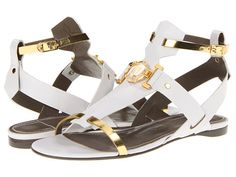 The ultimate in glamour, these sandals from Versace Collection™ will add that extra oomph to your ensemble that you didn't even know was missing.    http://www.zappos.com/versace-collection-lsd348c-lcas-l01og-white-gold