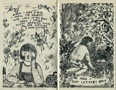 BACKYARD FAIRIES zine by PhoebeWahl on Etsy