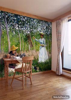 Fototapeten In den Wäldern auf Givery_Monet