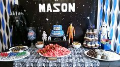 Fun party food at a Star Wars birthday party! See more party ideas at CatchMyParty.com!