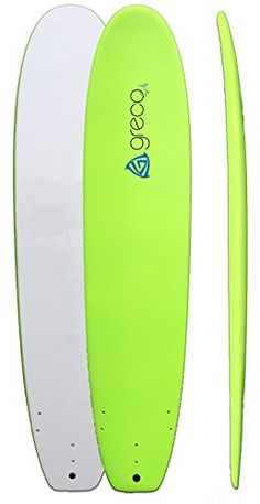 9' Performance Soft Top Foamboard Long Surfboard Foam Surfboard Longboard by Greco Surf. Green - http://www.facebook.com/942471062504263/posts/1027998100618225