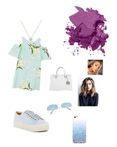 """""""Summmerrr~🍦"""" by moza-alali ❤ liked on Polyvore featuring Bobbi Brown Cosmetics, MANGO, Marc Fisher LTD, Michael Kors and Ray-Ban"""