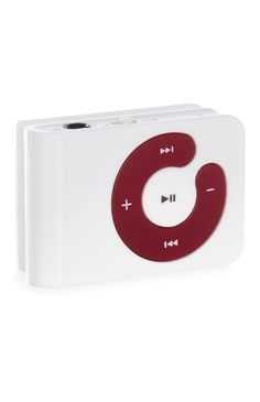 Primark red and white MP3 player - perfect for guys on the go!
