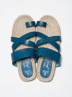 Gaimo Sandals. Bast fibre ist good for the summer...