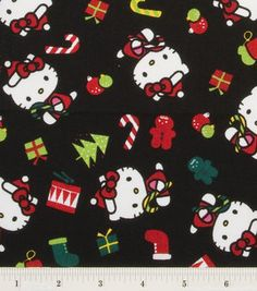 Holiday Inspirations Fabric-Hello Kitty Candy Canes: holiday fabric: fabric: Shop | Joann.com