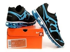 Nike Air Max 2012 Black Blue Shoes