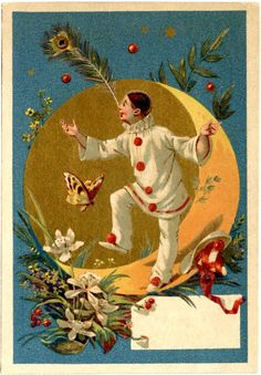 Vintage Pierrot Clown Image - The Graphics Fairy