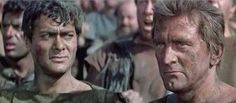 """Spartakus"" - Tony Curtis, Kirk Douglas - 1960.      03sld6.jpg (300×131)"